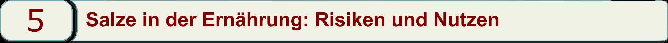 Salze in der Ernährung: Risiken und Nutzen